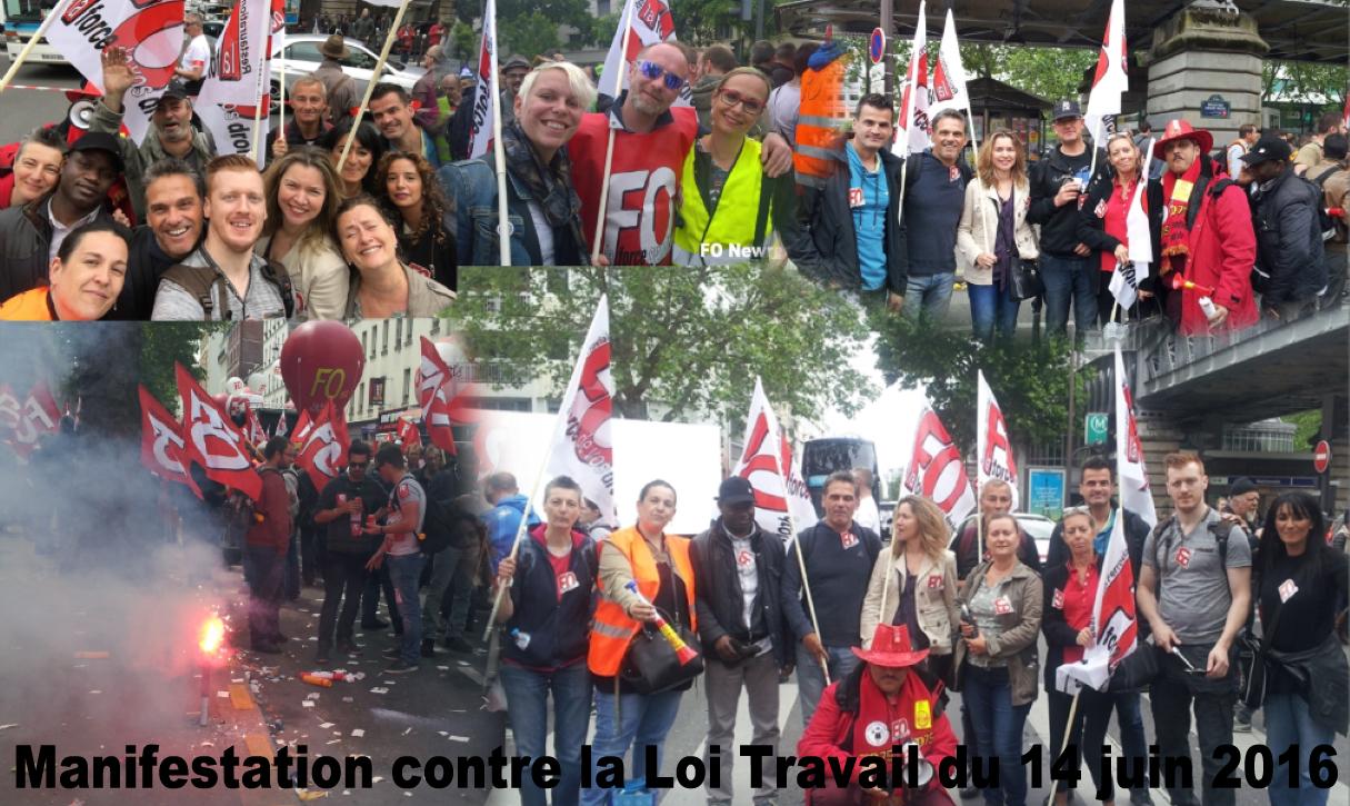 Manifestation contre la Loi Travail du 14 juin 2016