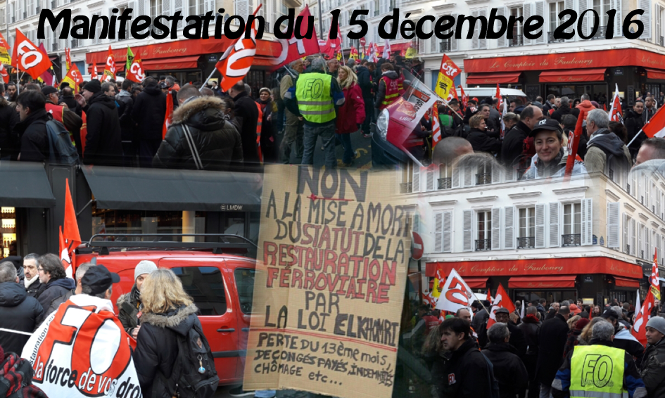 Manifestation Convention Collective du 15 décembre 2016