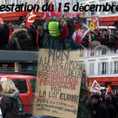 Manifestation Convention Collective du 15 décembre 2016